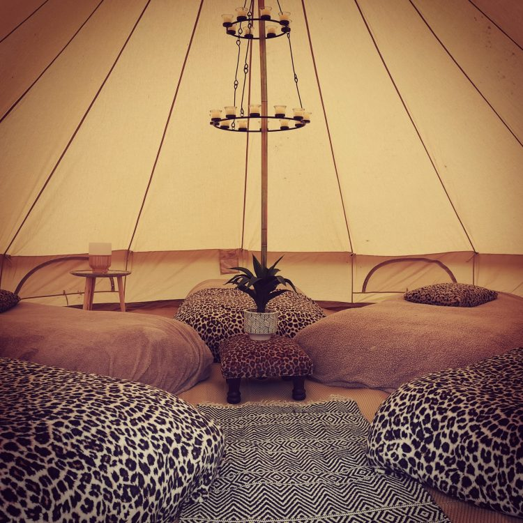 Adorabell Glamping Tent with animal print